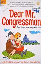 """JULIET LOWELL """"DEAR MR CONGRESSMAN"""" VTG 1960 PAPERBACK CARTOON BOOK"""