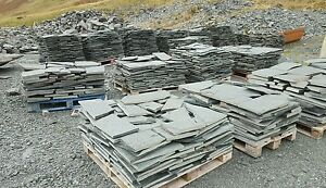 Westmorland Green Slate Crazy Paving 25mm to 40mm THICK £28m2. Minimum Order 8m2