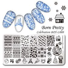 Nail Art Stamping Plates Image Plate BORN PRETTY Christmas Snowflakes BPX-L008