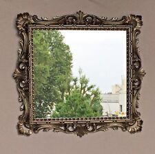 Espejo de Pared Barroco Plata Antigua 38x36 Maquillaje baño DORADOS