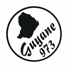 Sticker GUYANE 973 - Cayenne - 13cm x 13cm