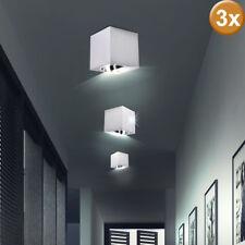 Juego de 3 techo construcción reflector luces ALUMINIO Dormitorio Spot Lámparas
