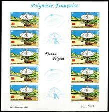 Polynésie Non dentelés - Imperf 1988 Yvert 306A réseau POLYSAT Espace