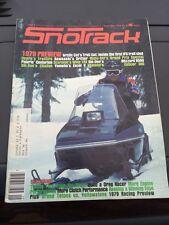 Sept 1978 SNOTrack snowmobile magazine Arctic Cat Trail Cat COVER Polaris Ski Do
