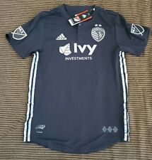 New Adidas MLS Kansas City Sporting FC Authentic Jersey Men's Large $120 NWT