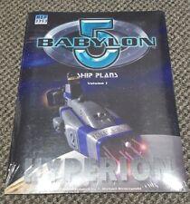 Babylon 5 Ship Plans Volume 1 - Hyperion - Mongoose Publishing MGP 3533 - New!