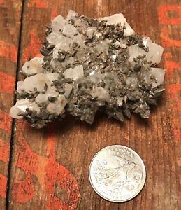 Quartz on Quartz D281 Mexico Crystal Mineral Specimen