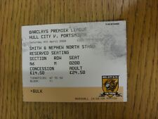 04/04/2009 Ticket: Hull City v Portsmouth  (marked in top corner). Thanks for vi