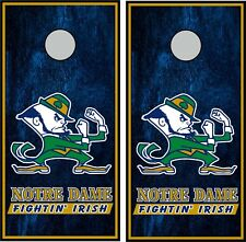 Notre Dame 0391 custom cornhole board vinyl wraps stickers posters decals skins