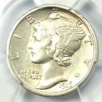 1916-D Mercury Dime 10C Coin - Certified PCGS Uncirculated Details (UNC MS)!