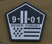 "PVC / Rubber Patch ""Never Forget 9-11-01"" with VELCRO® brand hook"