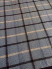 "New Blue Plaid Fleece Blanket/Throw. 45 X 60"". C3"