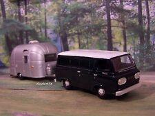 1965 65 Ford Econoline Van + Airstream Camper Collectible 1/64 Diorama Models