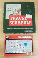 Vintage Travel Scrabble Spears Games (NEAR COMPLETE) & Know the Game Guide