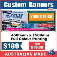 Custom Outdoor Vinyl Banner Sign - 4500mm x 1500mm - Australian Made
