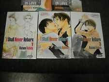 Deux Press 3 yaoi manga set sealed new I Shall Never Return 1 3 & 4
