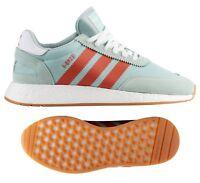 New ADIDAS Originals Iniki I-5923 Athletic Sneaker Mens green orange size 8