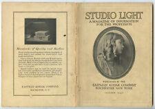 STUDIO OF LIGHT, OCT 1929 VOL 21, MAGAZINE FOR PHOTO PROFESSIONALS