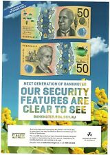 $50 2018 RBA Security Info Sheet & Bookmark 'responsibilty' spelling mistake