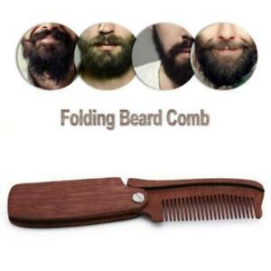 Beauty Folding Foam Beard Comb Haircombing Folding Wooden Beard Men's Brush BT