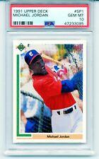 1991 Upper Deck Baseball MICHAEL JORDAN ROOKIE CARD #SP1 RC Rare GEM MINT PSA 10