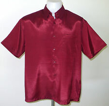 Mens Thai Silk Shirts M-L-XL-XXL-XXXL ~ SHORT & LONG Sleeves / 16 Colours