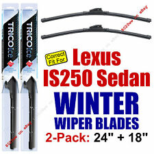 WINTER Wiper Blades 2pk - fit 2014-2015 Lexus IS250 SEDAN Only - 35240/180