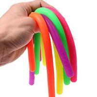 Stretchy String Fidget Noodle Autism ADHD Sensory Anti Stress Fiddle Toy Z6I7