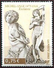 2003 FRANCE N°3558** SCULPTURE,  Michel-Ange Esclaves, FRANCE 2003  MNH