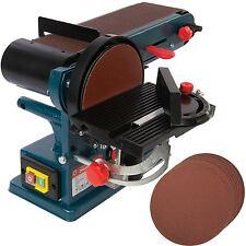 350W Bench Belt & Disc Sander 390mm Sander With 10  Free 150mm  Sanding Discs