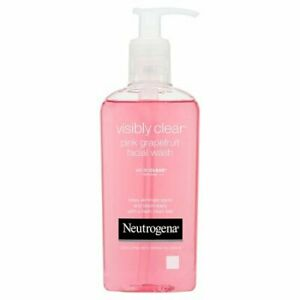 Real Neutrogena Visibly Clear Oil Free Pink Grapefruit Facial Acne Wash 200 ml