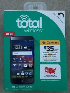 New Total Wireless ZTE ZMax One Prepaid Smartphone 16GB 4G LTE Sealed in Box