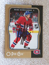 Montreal Canadiens Mike Komisarek Signed 0/08 O-Pee-Chee Card Auto