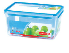 Emsa Clip & Close 3D PERF CLEAN Airtight Container Box Storage 8,2 L