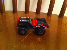 vintage Matchbox 1987 Jeep Laredo 4X4 toy car Diecast Black Collectible Classic