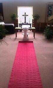 100ft Deluxe Red Fabric Wedding Aisle Runner
