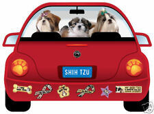 SHIH TZU PUPMOBILE CAR MAGNET
