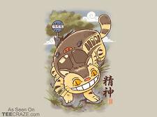 "TEEFURY T-SHIRT ""Nekobasu Scroll"" CUTE My Neighbor Totoro Miyazaki Catbus Japan!"