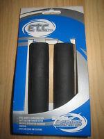 2 x 115mm gel ETC black bar bike / cycle handlebar grips EHG010