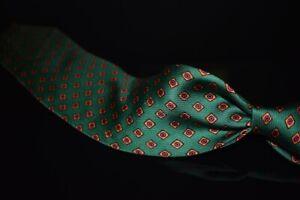 #1 MENSWEAR LNWOT Drakes England Silk Tie Bright Green Orange Purple Neat NR #10
