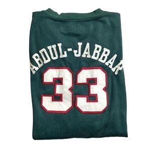 Reebok Hardwood Classics Vintage Kareem Abdul-Jabbar Green Tshirt Men's 3XL