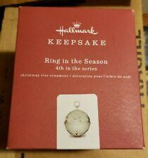 2018 Hallmark Keepsake Ornament Ring In the Season 4th in the Series