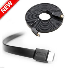 High Speed 0.3m 1.4a HDMI To HDMI Flat Cable 1.4V 1080P HD Ethernet 3D for HDTV