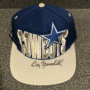 Don Meredith HAND SIGNED Dallas Cowboys Autographed HAT CAP HOF