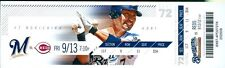 2013 Brewers vs Reds Ticket:  Kyle Lohse 4 hit complete game win