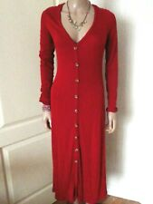 ASOS JERSEY STRETCH RED FRONT BUTTON FASTENING DRESS SIZE 18