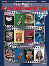 Easy Popular Movie Solos (violin/CD); Various, Violin solo, ALFRED - 28165