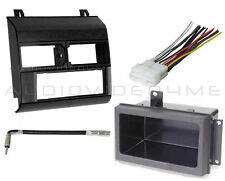 Chevy Chevrolet Pickup Truck 88-94 Black Radio Stereo Dash Face Plate Kit Combo