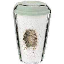 Royal Worcester Wrendale What A Hoot Owl Fine Bone China Travel Mug