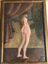 "Super Nice Antique ""Female Nude Scene"" Oil Painting - Signed And Framed"